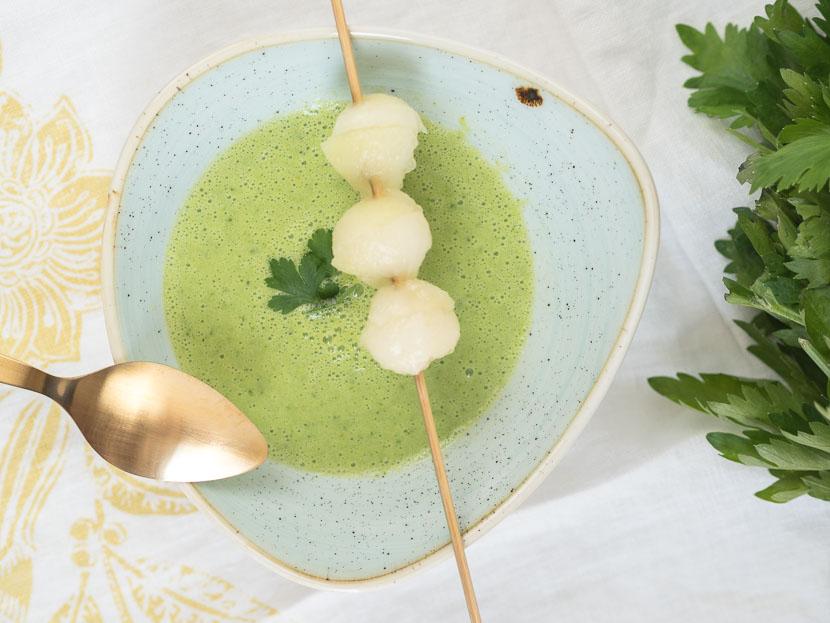 Kalte Melonen-Gurken Suppe mit Buttermilch 5