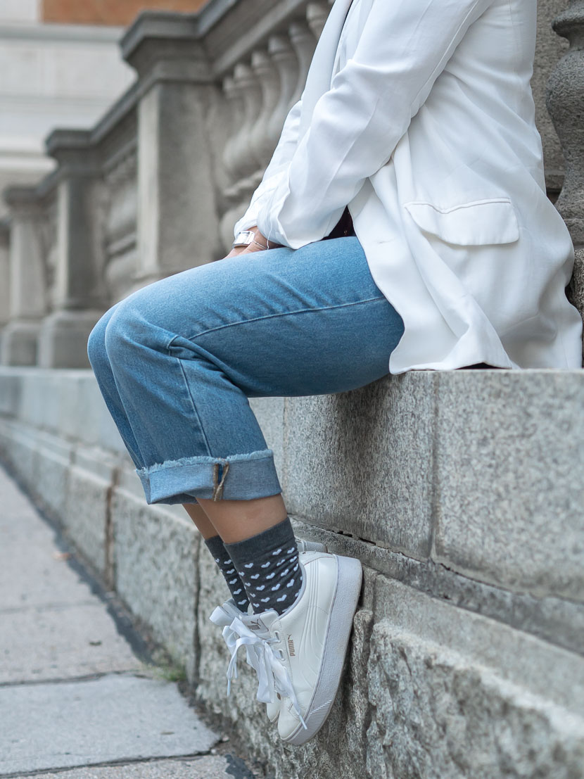 Trendreport: Zeigt her Eure Socken! Streetstyle Trend, Socken-Trend, Herbsttrend 2018, Socken und Pumps, Socken und offene Schuhe, Socken als Statement, Fashion Trend Socken, Fashionblog, www.amigaprincess.com #herbsttrend #socken