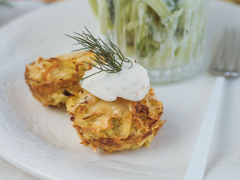 Kartoffelrösti Muffins mit Philadelphia Lachs & Dill* 7