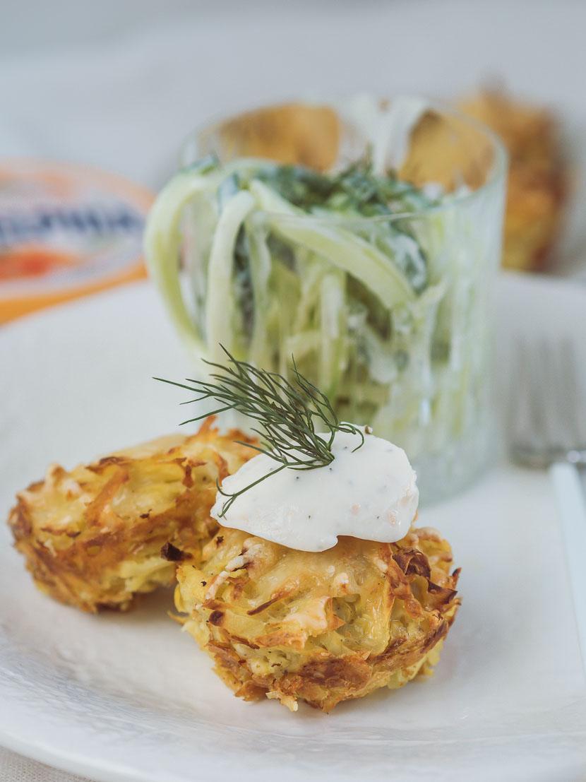Kartoffelrösti Muffins mit Philadelphia Lachs & Dill* 5