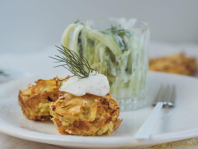 Kartoffelrösti Muffins mit Philadelphia Lachs & Dill* 2