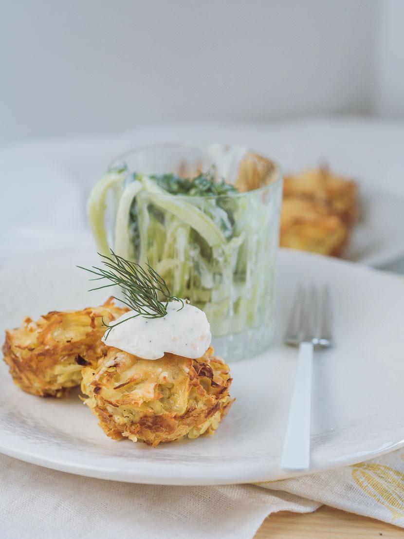 Kartoffelrösti Muffins mit Philadelphia Lachs & Dill* 3