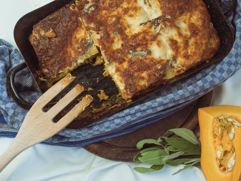 Kürbis Salbei Lasagne | vegetarisch und glutenfrei 6