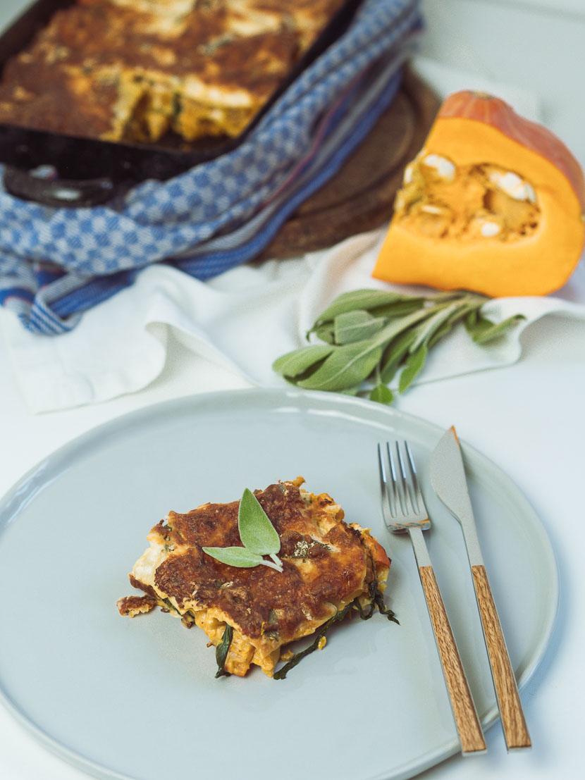 Kürbis Salbei Lasagne | vegetarisch und glutenfrei 8