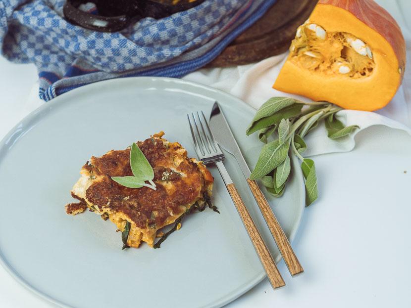 Kürbis Salbei Lasagne | vegetarisch und glutenfrei 1