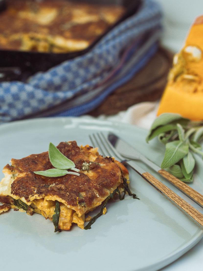 Kürbis Salbei Lasagne | vegetarisch und glutenfrei 7