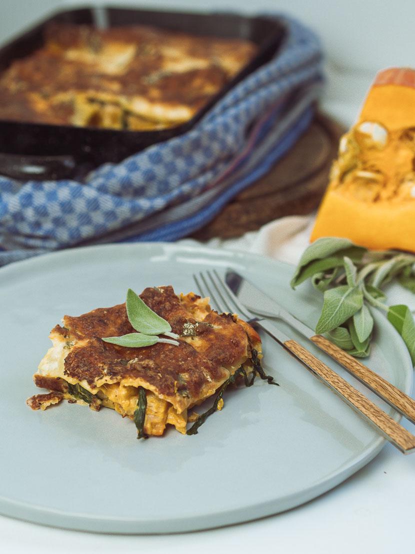 Kürbis Salbei Lasagne | vegetarisch und glutenfrei 3