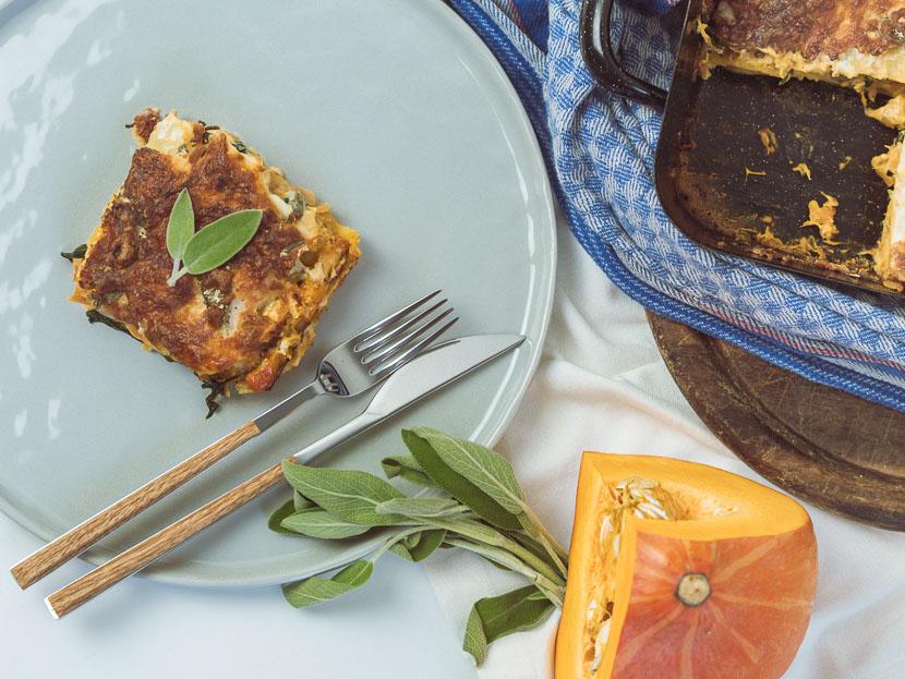 Kürbis Salbei Lasagne | vegetarisch und glutenfrei 2