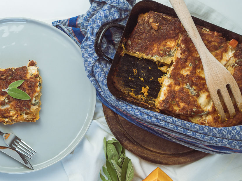 Kürbis Salbei Lasagne | vegetarisch und glutenfrei 4