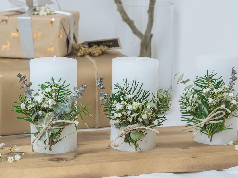 Last Minute DIY Adventskranz im skandinavischen Stil 2