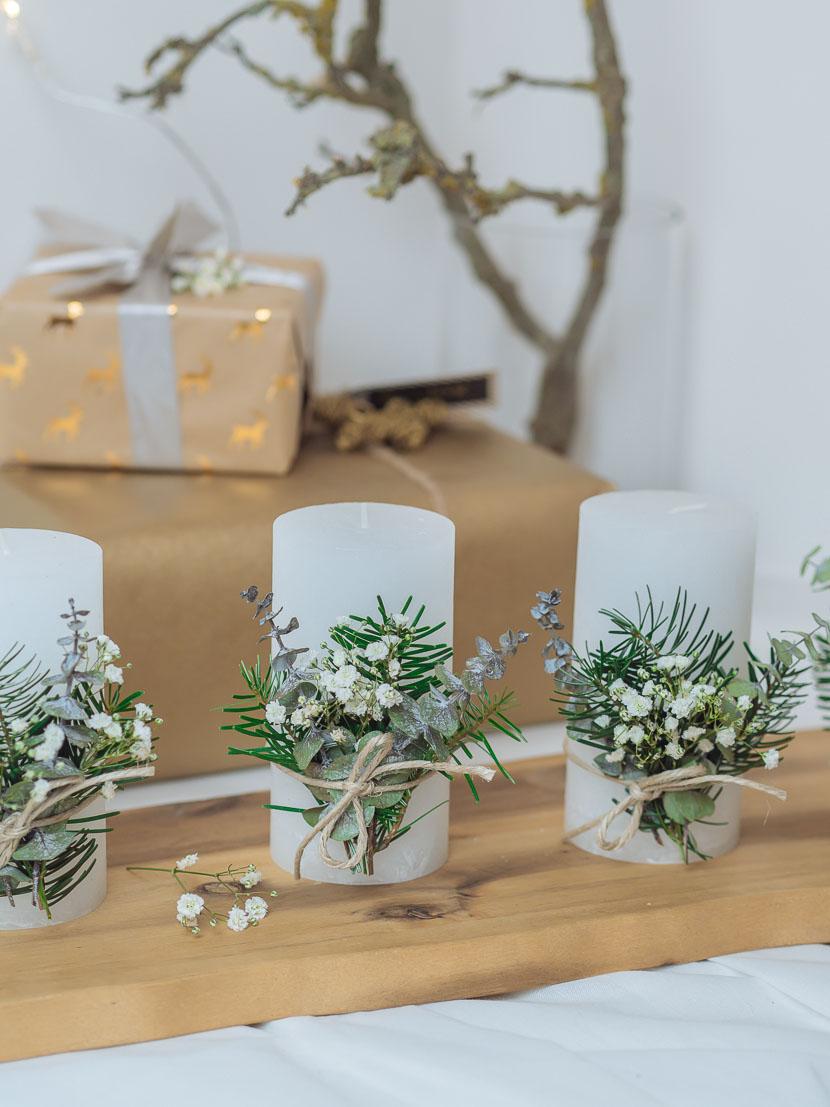 Last Minute DIY Adventskranz im skandinavischen Stil 8