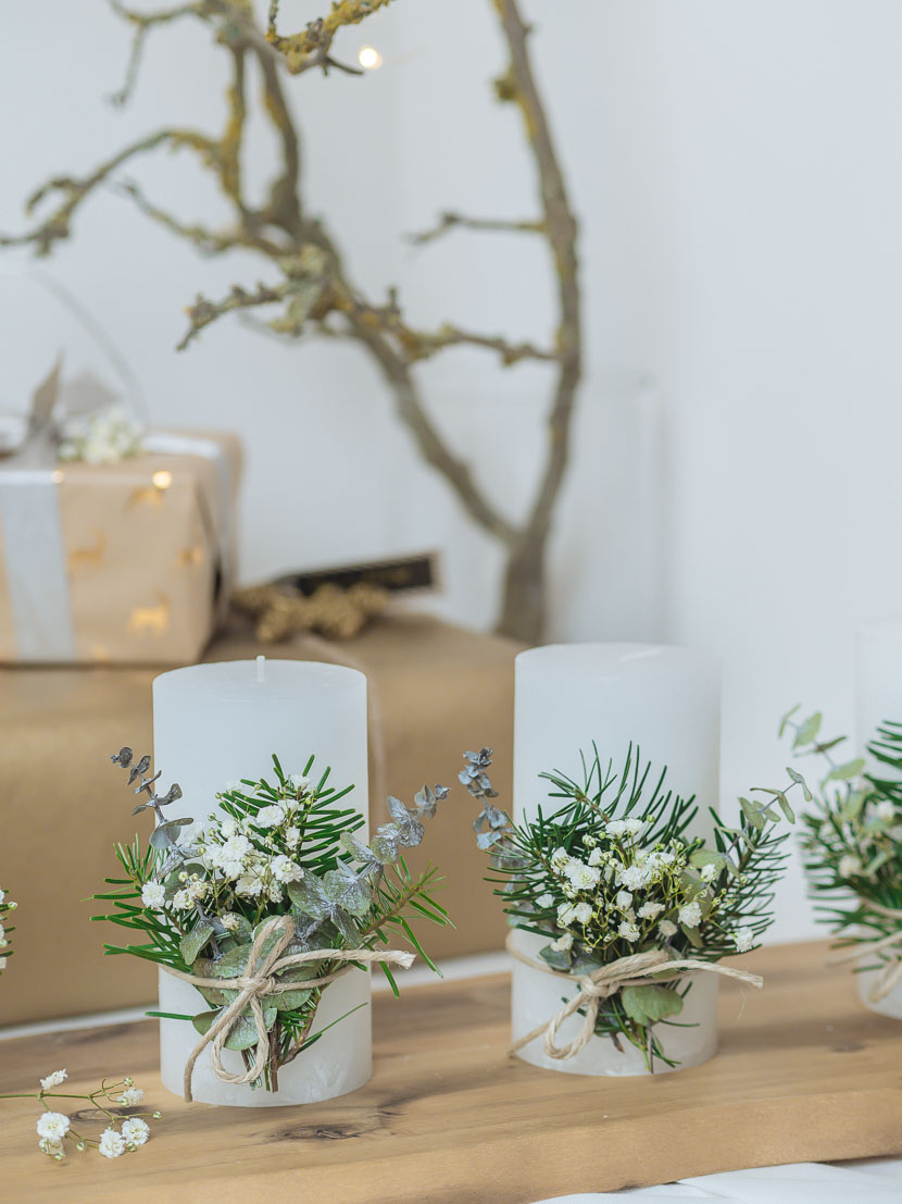 Last Minute DIY Adventskranz im skandinavischen Stil 1