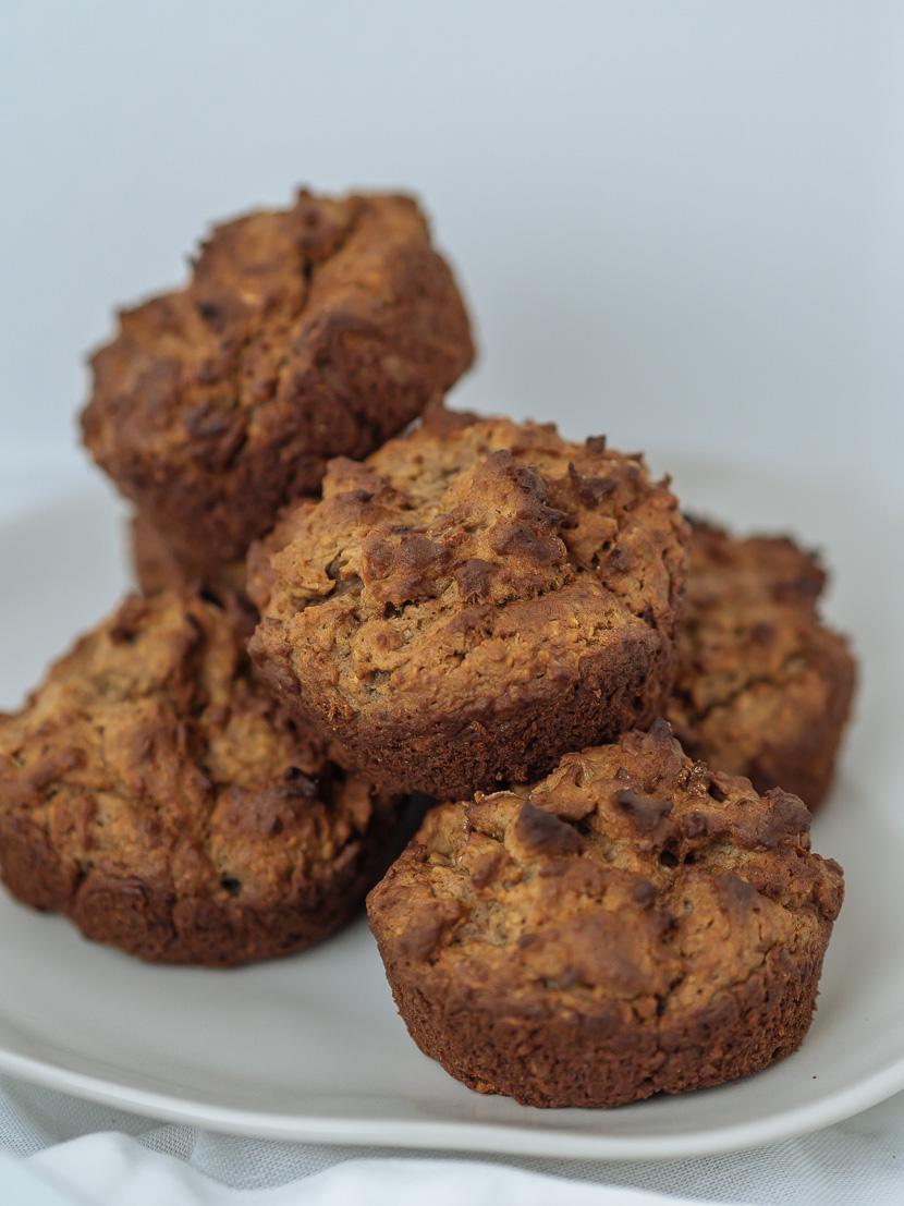 Protein Frühstücks-Muffins mit Banane 3