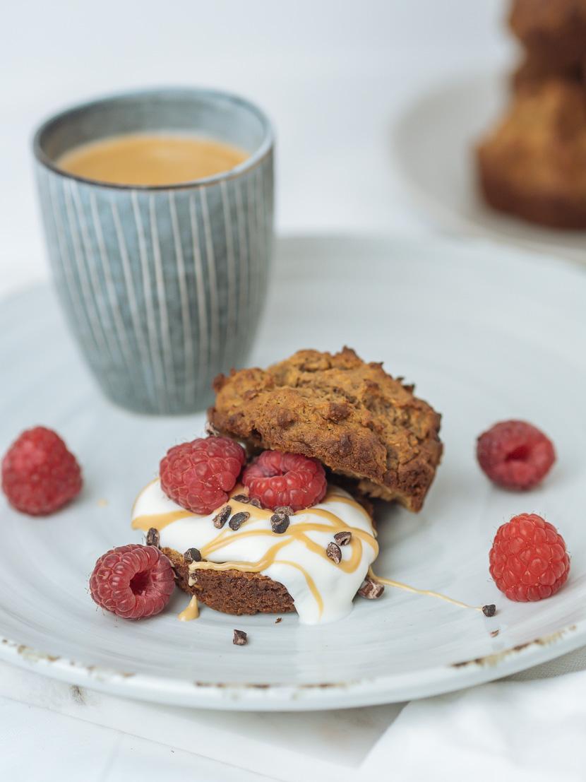 Protein Frühstücks-Muffins mit Banane 8