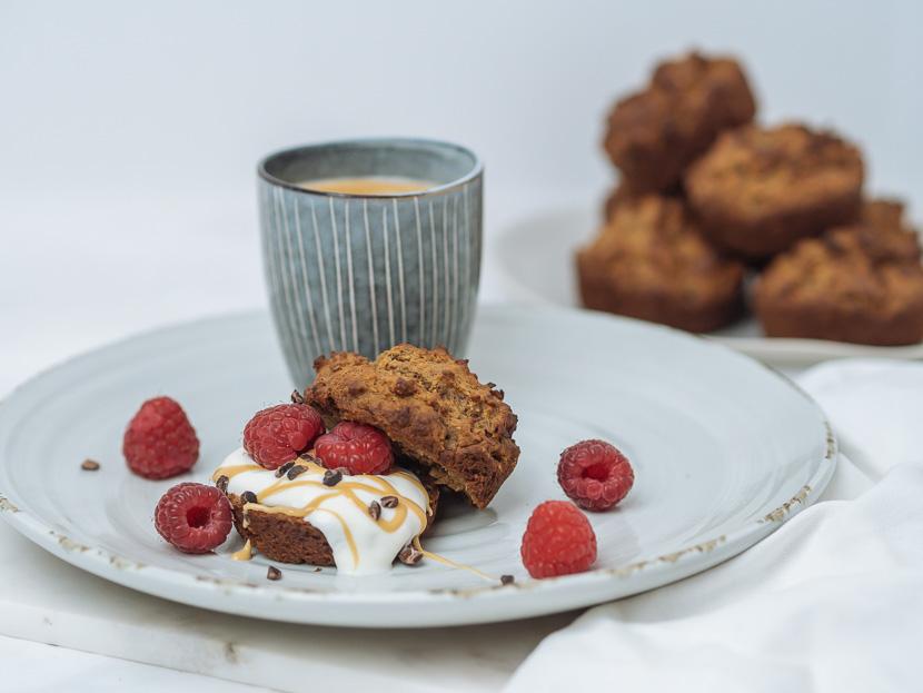 Protein Frühstücks-Muffins mit Banane 1