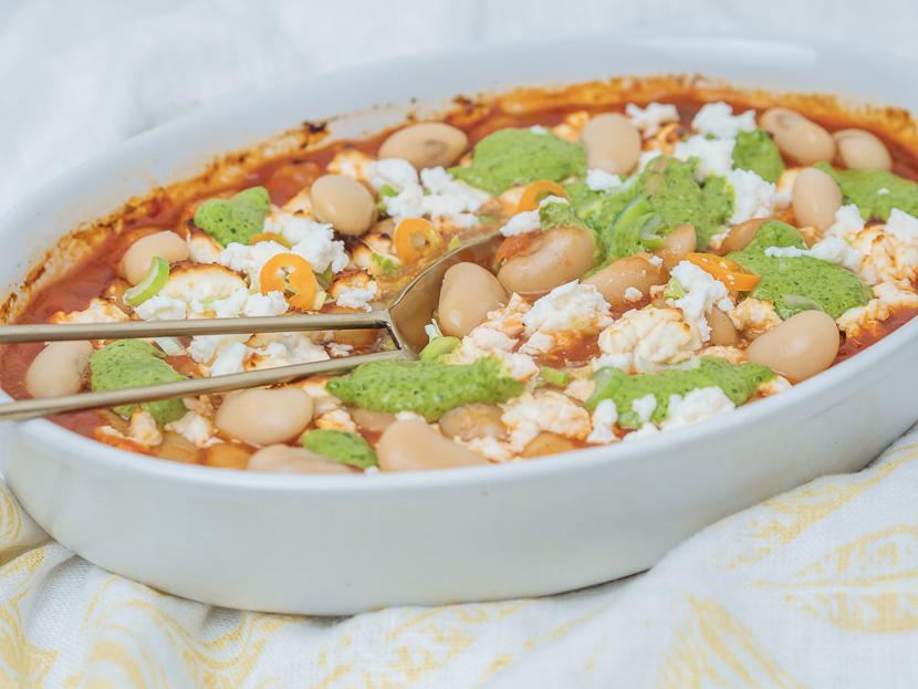 Baked Beans mit Bärlauchpesto 3