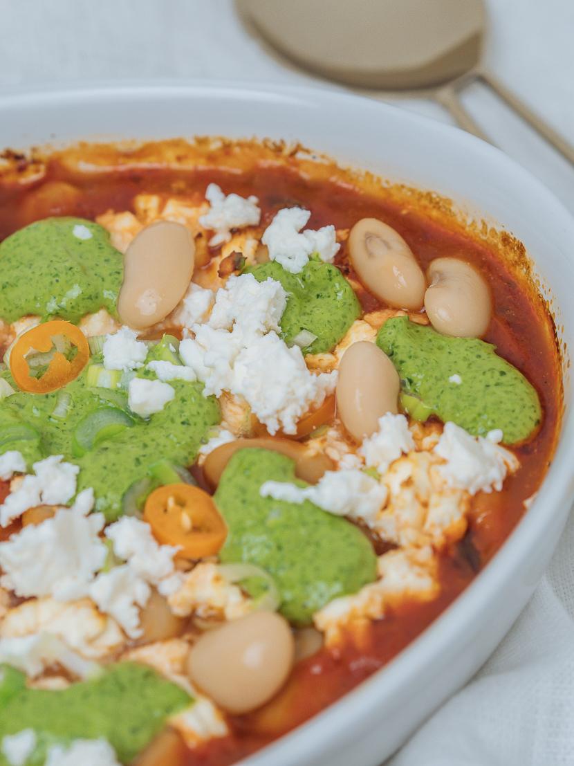 Baked Beans mit Bärlauchpesto 7