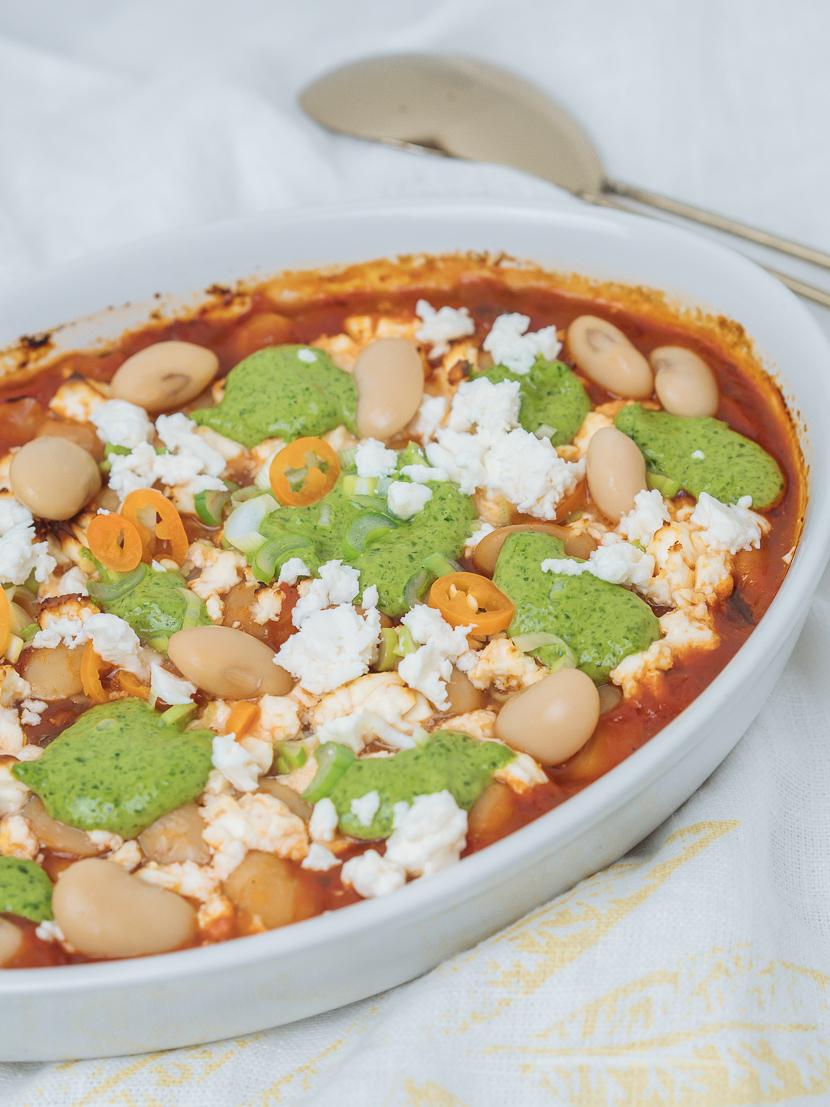 Baked Beans mit Bärlauchpesto 5