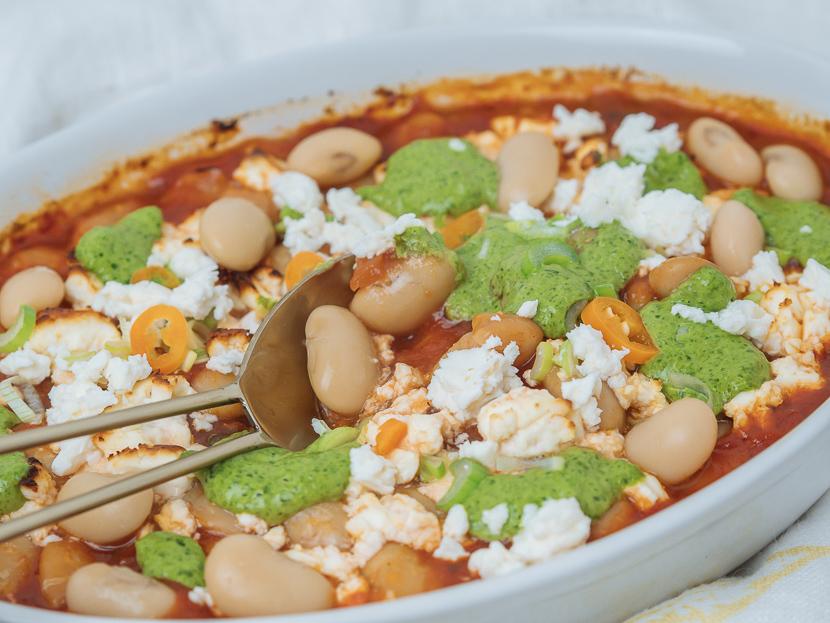 Baked Beans mit Bärlauchpesto 4