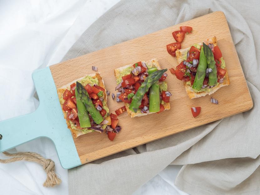3 frühlingshafte Vorspeisen mit grünem Spargel 4