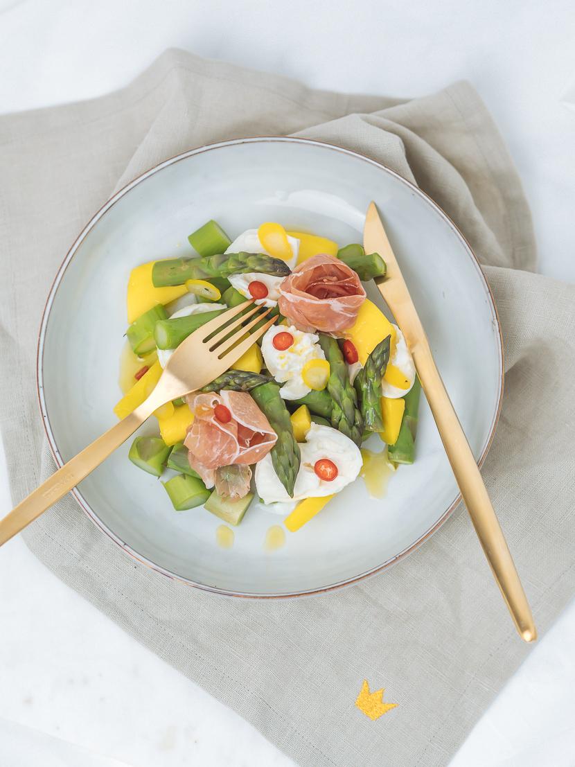 3 frühlingshafte Vorspeisen mit grünem Spargel 8