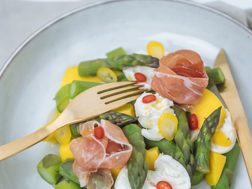 3 frühlingshafte Vorspeisen mit grünem Spargel 7