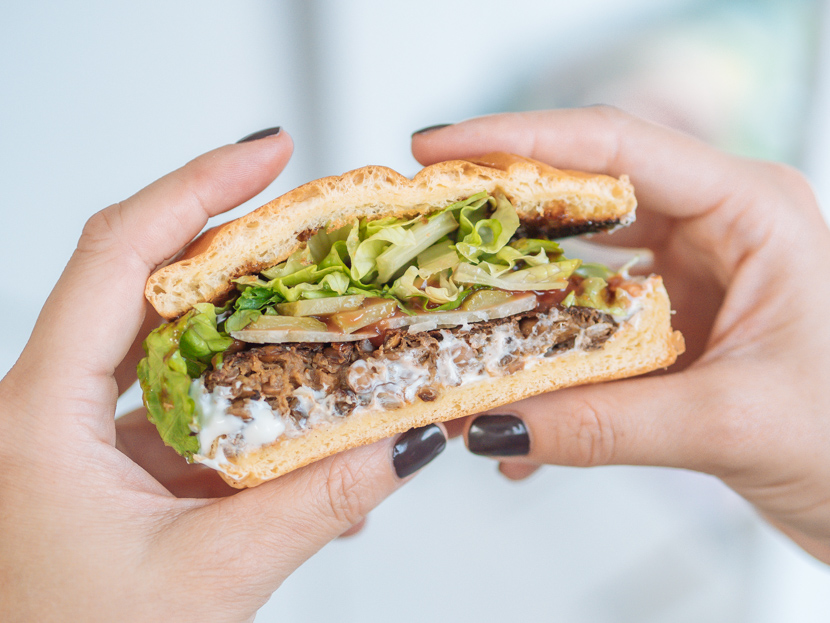 Veggie Burger Patties aus Linsen und Pilzen - einfach selbst gemacht 7