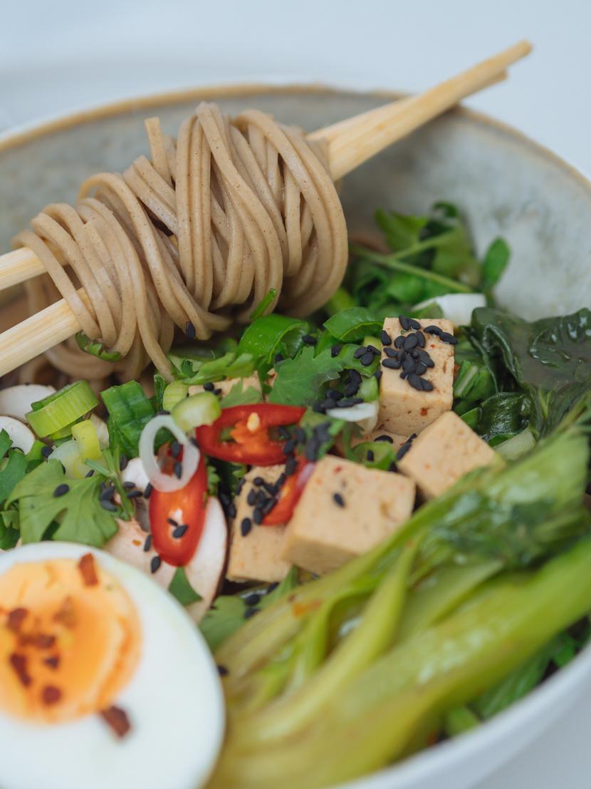 Einfaches, vegetarisches Ramen Rezept mit Tofu 1