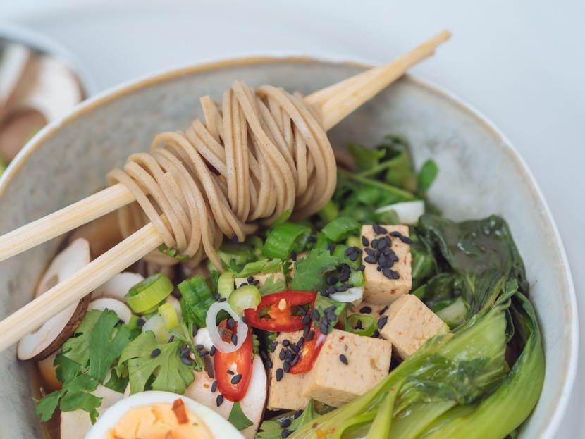Einfaches, vegetarisches Ramen Rezept mit Tofu 5