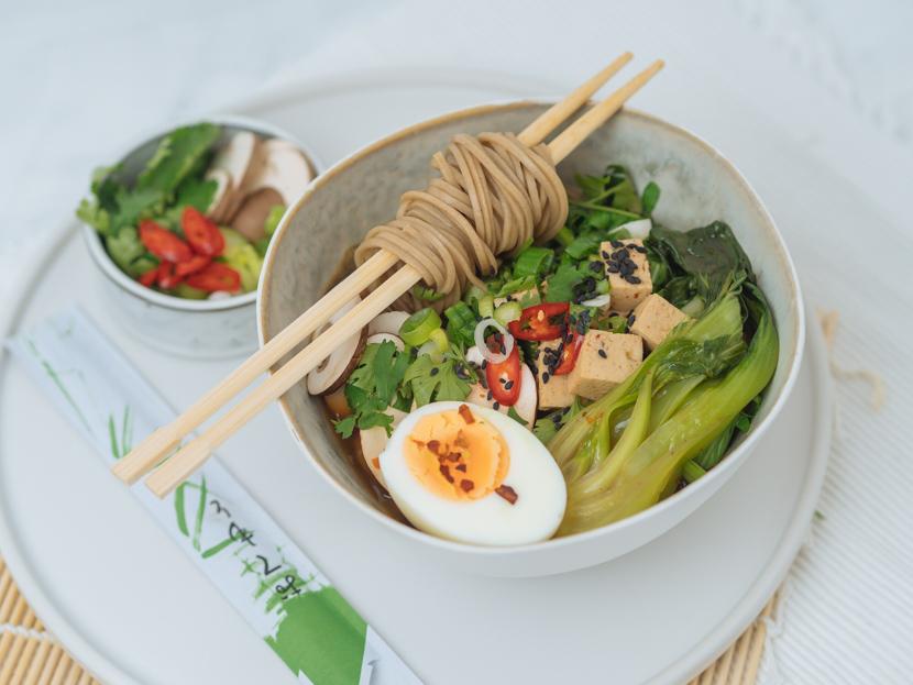 Einfaches, vegetarisches Ramen Rezept mit Tofu 3