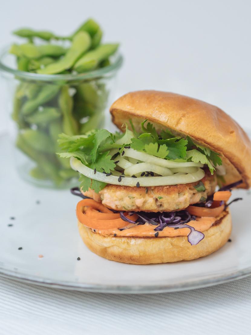 Einfaches und schnelles Rezept für Asia Lachs Burger 6