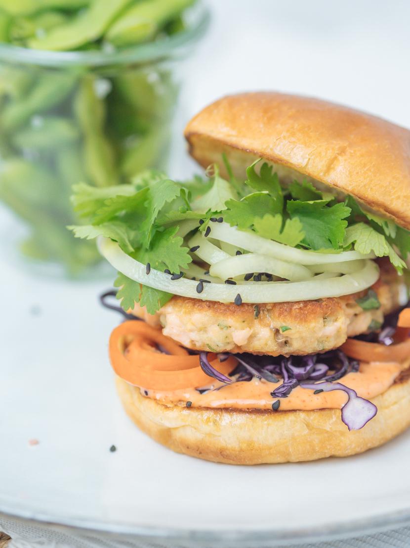 Einfaches und schnelles Rezept für Asia Lachs Burger 4