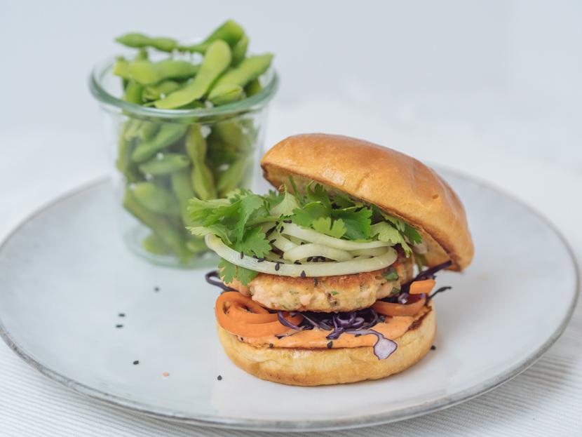 Einfaches und schnelles Rezept für Asia Lachs Burger