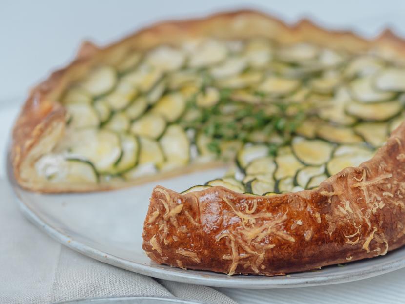 Herzhafte Galette mit Zucchini und Ricotta 4