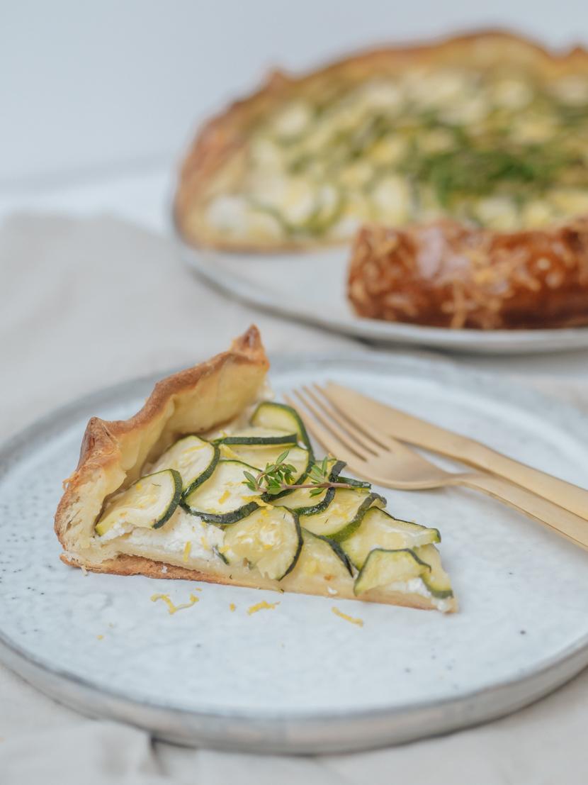 Herzhafte Galette mit Zucchini und Ricotta 8