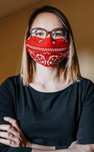 Covid-19 Mund-Nasen-Schutz selber machen: schnelles DIY für Personen mit kleinem Gesicht 21