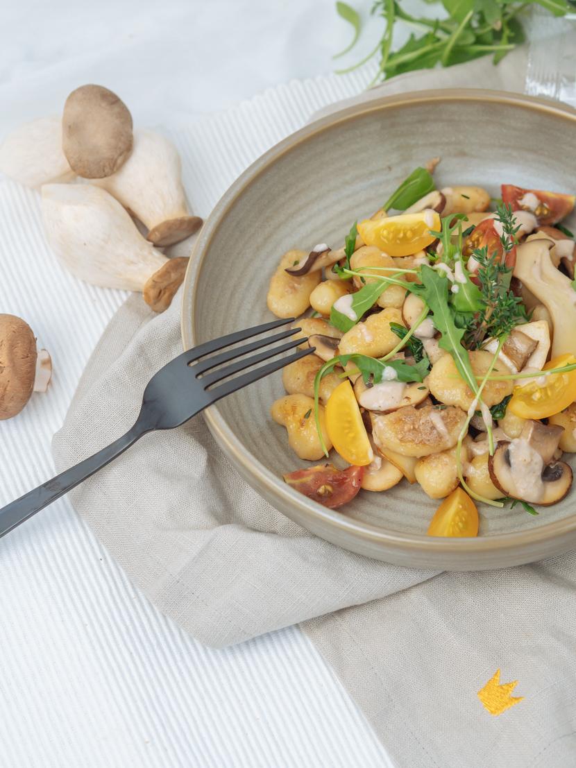 Gnocchi mit Walnusspesto und Pilzen* 5