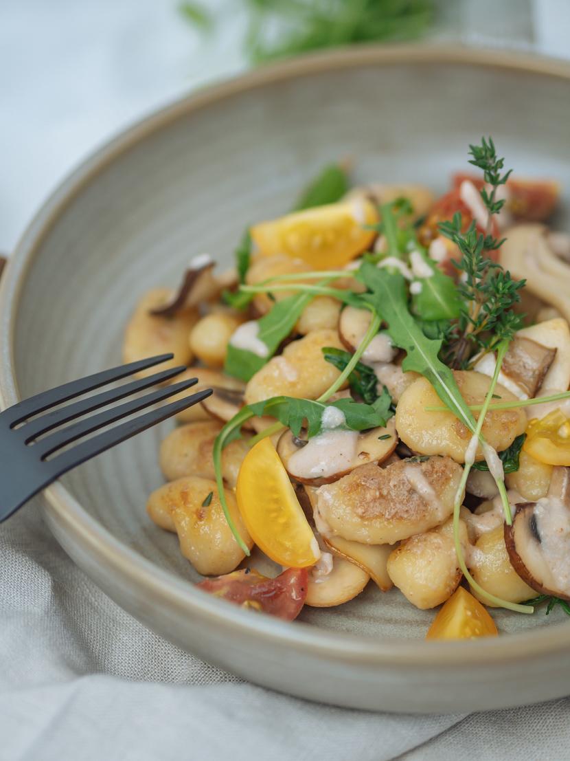 Gnocchi mit Walnusspesto und Pilzen* 3